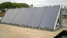 seis captadores solares FKT-1S para la vivenda UPM D10